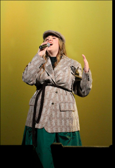 Abby Mashmann, sophomore, dresses up to act her part for her solo performance.