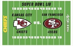 The Kansas City Chiefs and San Francisco 49ers meet in Miami for Super Bowl LIV Feb. 2. Art by Hayden Davidson.
