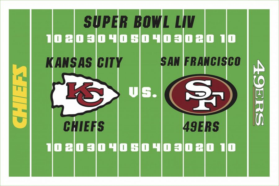 The+Kansas+City+Chiefs+and+San+Francisco+49ers+meet+in+Miami+for+Super+Bowl+LIV+Feb.+2.+Art+by+Hayden+Davidson.