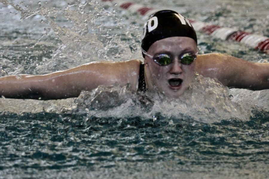 The girl's swim and dive team competed on Jan. 18th against various high schools around the St. Louis area such as Parkway West, Lafayette, Webster, and more.