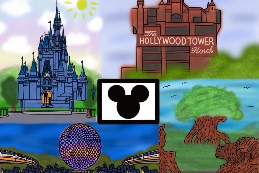 Walt Disney World in Orlando, FL has four distinct theme parks.