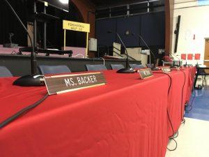 KSD School Board President Darnel Frost and board member Julie Backer announce joint statement Feb. 10