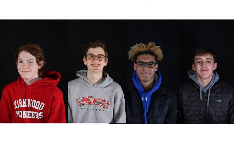 From left to right: Ryan Buesching, Christopher Plants, Bryce Simpson and Owen Millikan