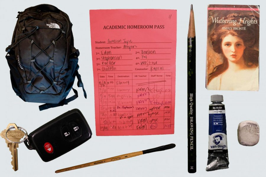 Students+bring+a+variety+of+items+to+each+class+during+homeroom.