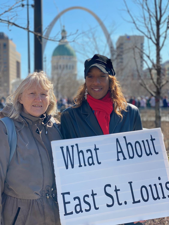 Cheryl Sommer and Hilary Scott-Ogunrinde – United Congregations of Metro East representatives