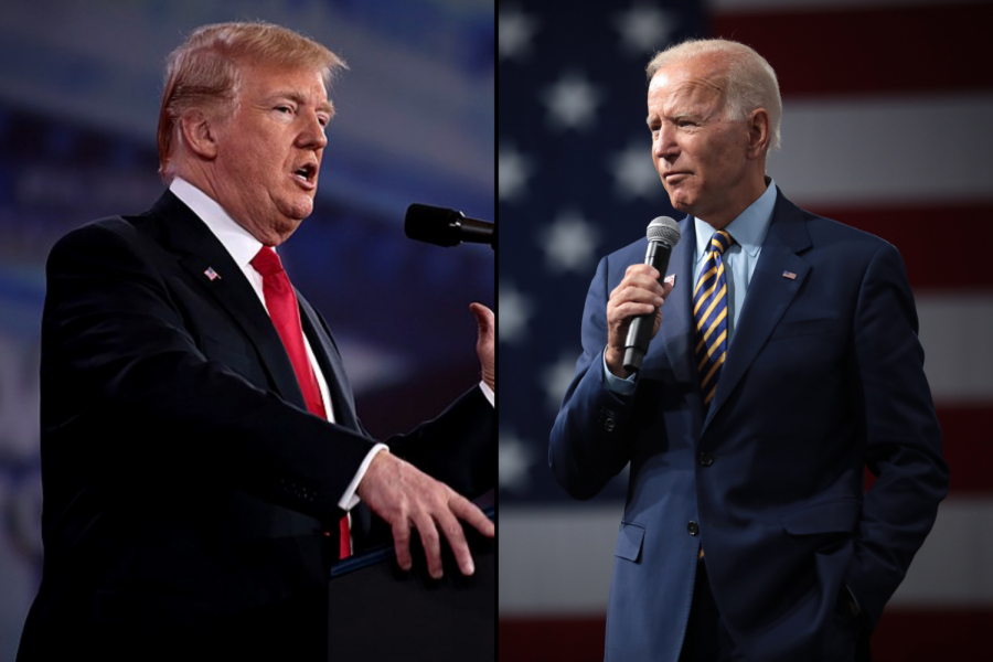 President Donald Trump and Former Vice President Joe Biden take the stage at Case Western Reserve University in Cleveland, Ohio for the presidential debate.