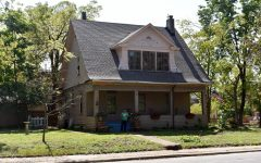 The house at 202 E. Adams Ave, built ca. 1913, that a local community bands together to restore.