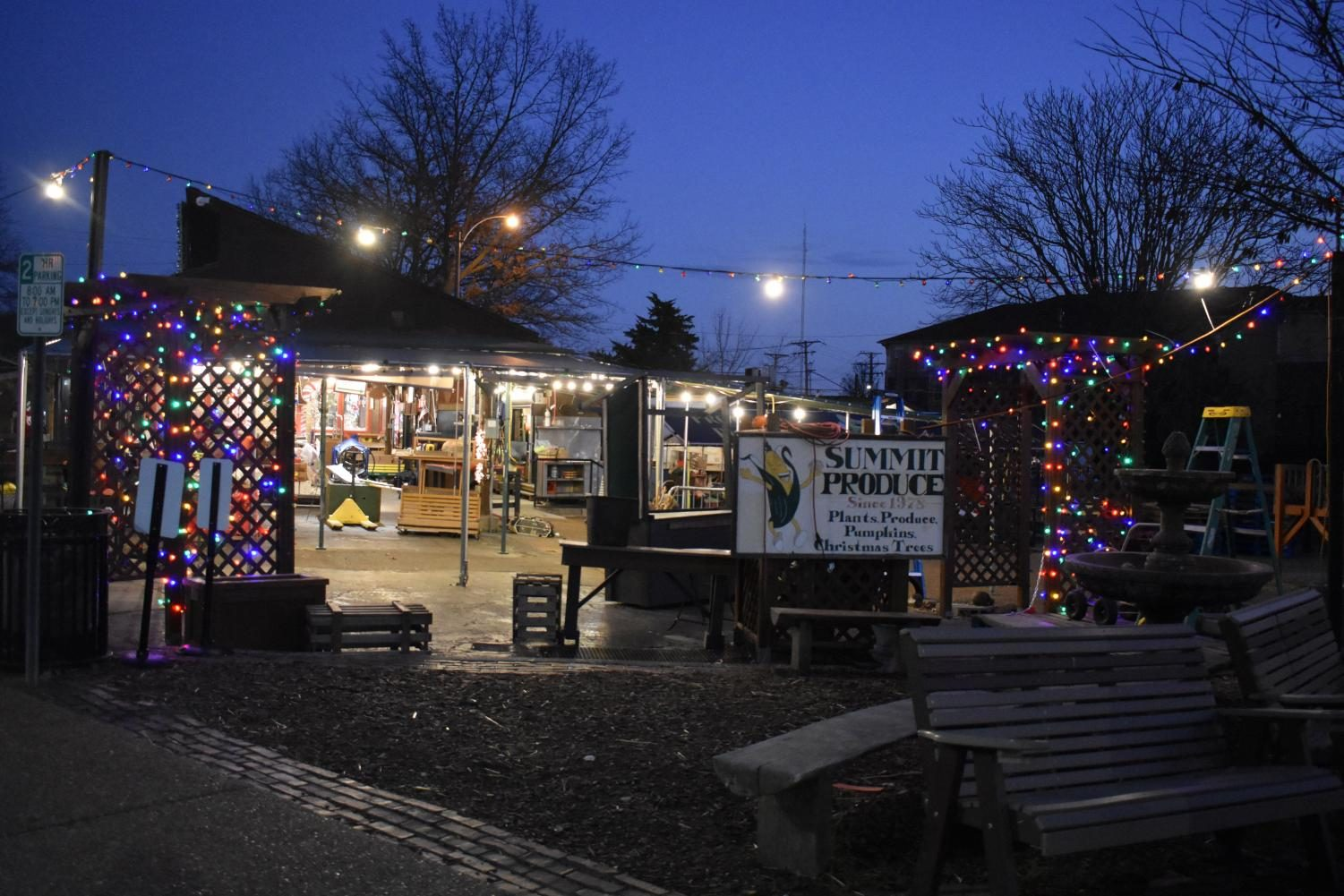 Kirkwood Farmers Market begins to set up their holiday gift shop.