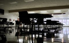 The KHS cafeteria sits undisturbed on Oct. 26, two weeks before students would return in person.