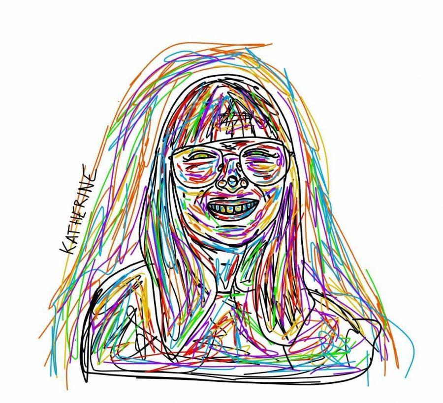 Katherine Stobbe's, artist, self-portrait.