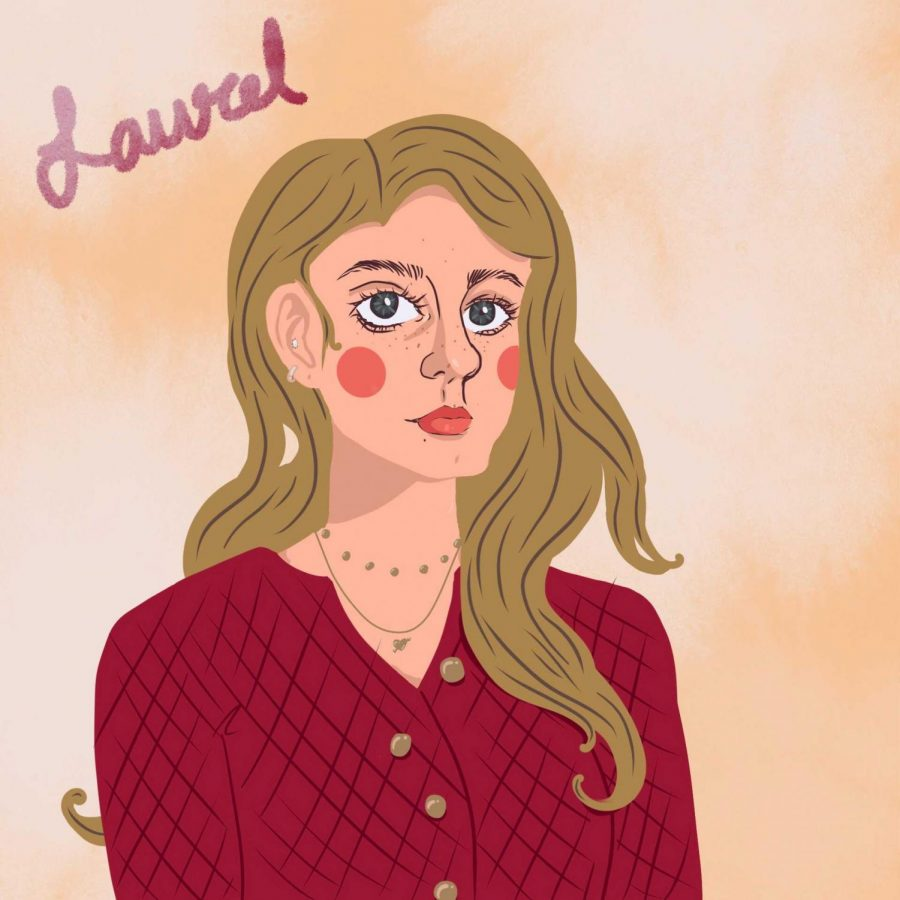 Laurel Seidensticker's, artist, self-portrait.