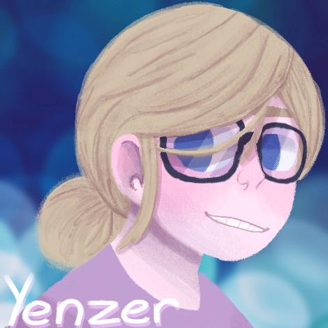 Elizabeth Yenzers, artist, self-portrait.