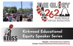 Kirkwood Teachers of Color has sponsored the Kirkwood Black Lives Matter Peace Walk, the Glory Run/Walk Virtual Marathon and the ongoing Kirkwood Educational Equity Speaker Series. See below for more information on upcoming Speaker Series events. Peace walk photo by Sophia Beckmann.