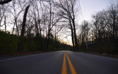 This photo of a road at sunset is inspired by the song