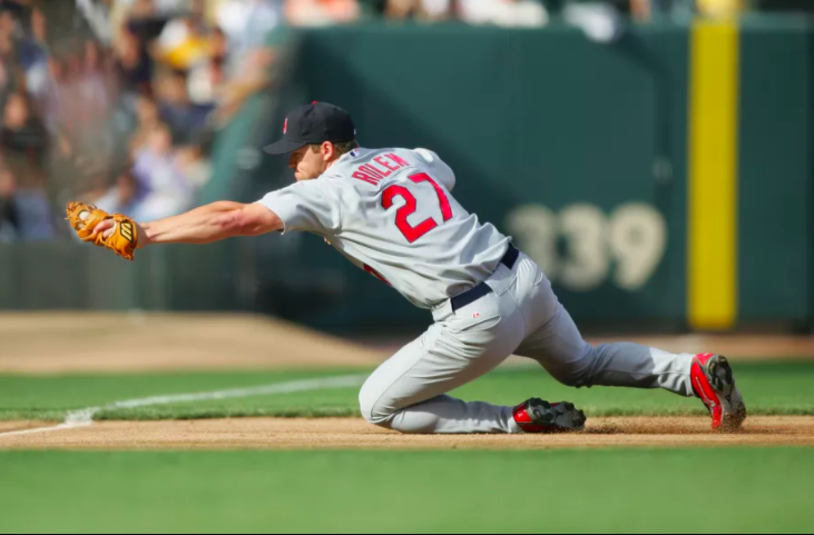In the field, Rolen's all-out playing style made him a rock at the third base position,