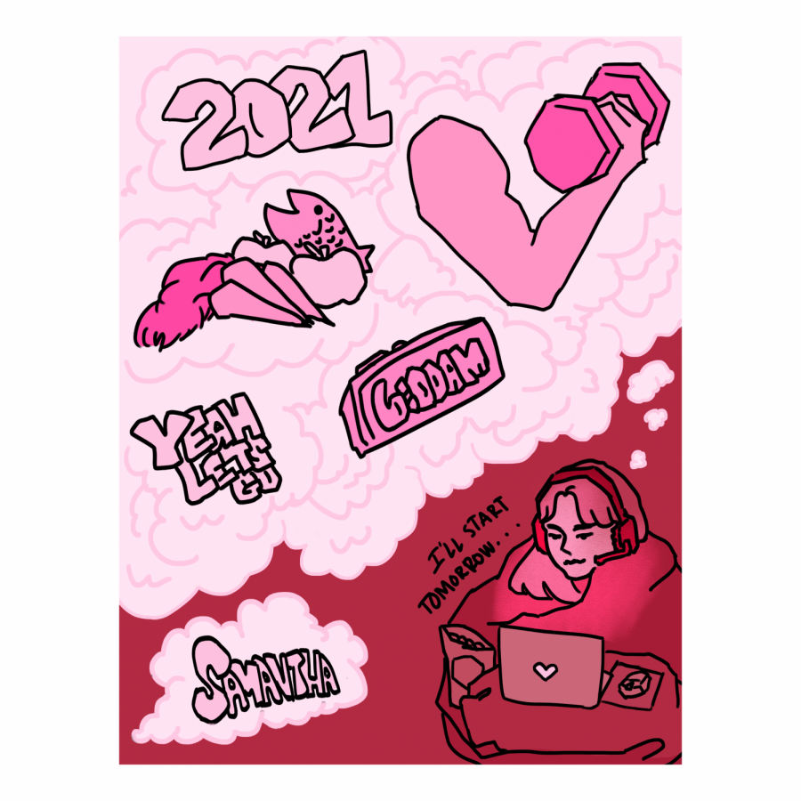 Samantha Roth, artist, depicts their take on resolutions for 2021.