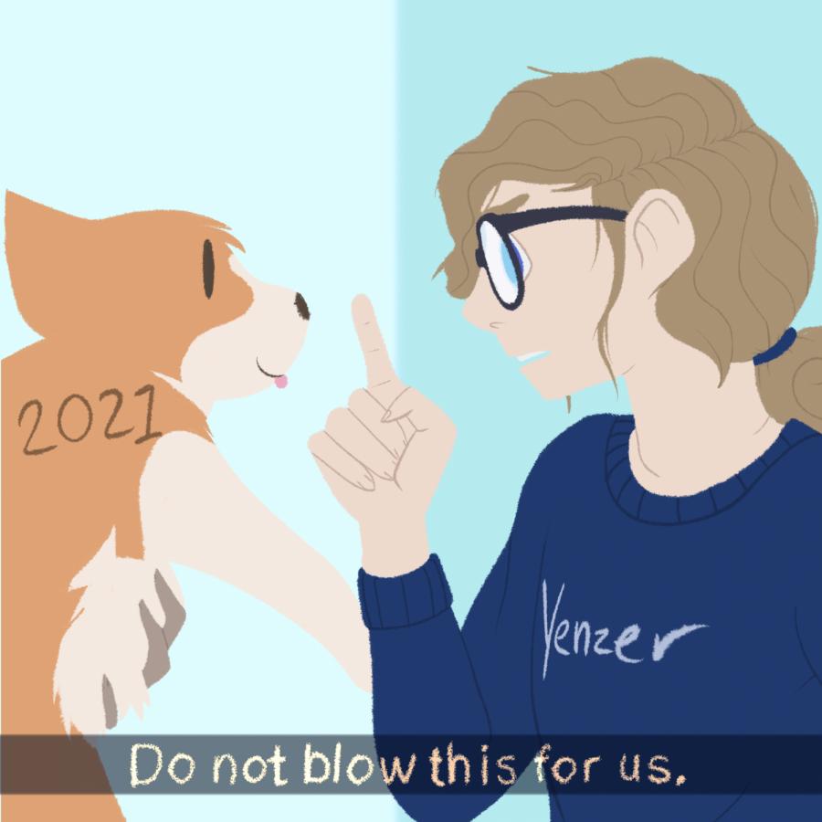 Elizabeth Yenzer, artist, depicts their take on resolutions for 2021.