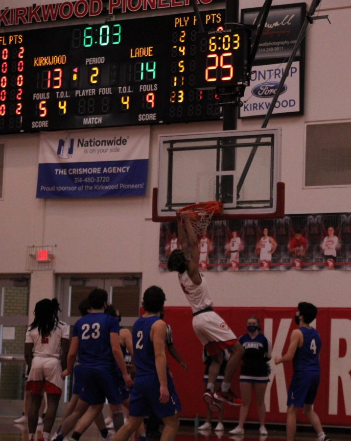 Bryce Simpson throws down a nasty two hand jam