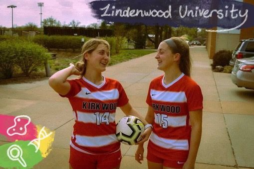 Art by Laurel Seidensticker. They have been playing soccer together since they were 4. Throughout their lives, they have helped each other both on and off the field.