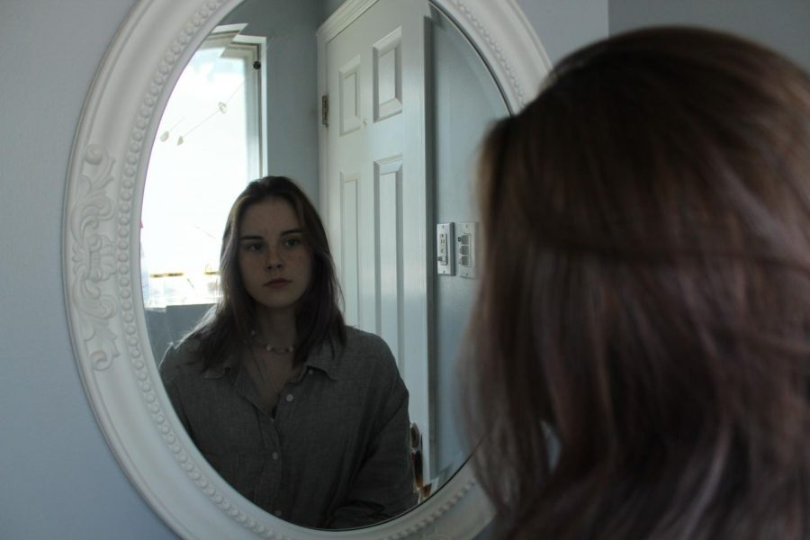 This is a photo of me looking at myself, reflecting on the past year.
