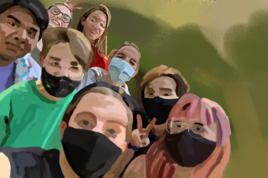 Art representing me and my friends for the first time.
