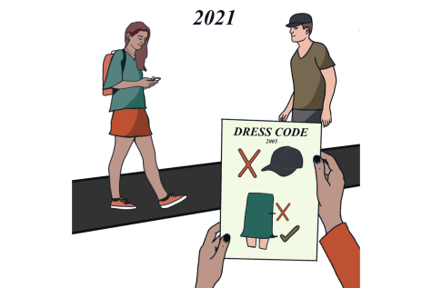 With the dress code policy being a controversial topic at KHS these past couple weeks, TKC staff unanimously (68/68) voted that the dress code should be updated to address its inconsistency, sexism and outdated policies.