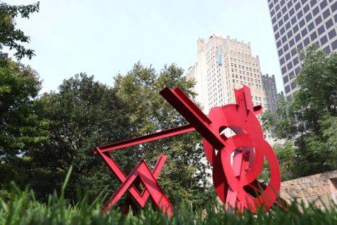 Citygarden, an urban sculpture park, is home to 24 sculptures, six rain gardens, a childrens fountain and six-foot waterfall.
